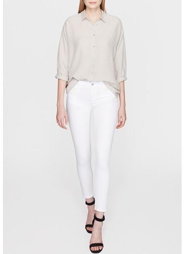 Mavi Jean Pantolon | Adriana Ankle - Super Skinny Beyaz